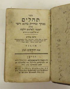Book of psalms and proverbs in Yiddish