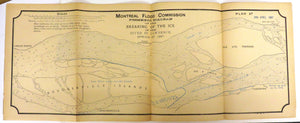 38 fold-out plans of ice conditions near Montreal, 1880s