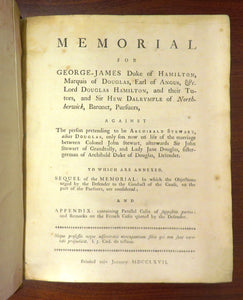 Memorial for George-James Duke of Hamilton