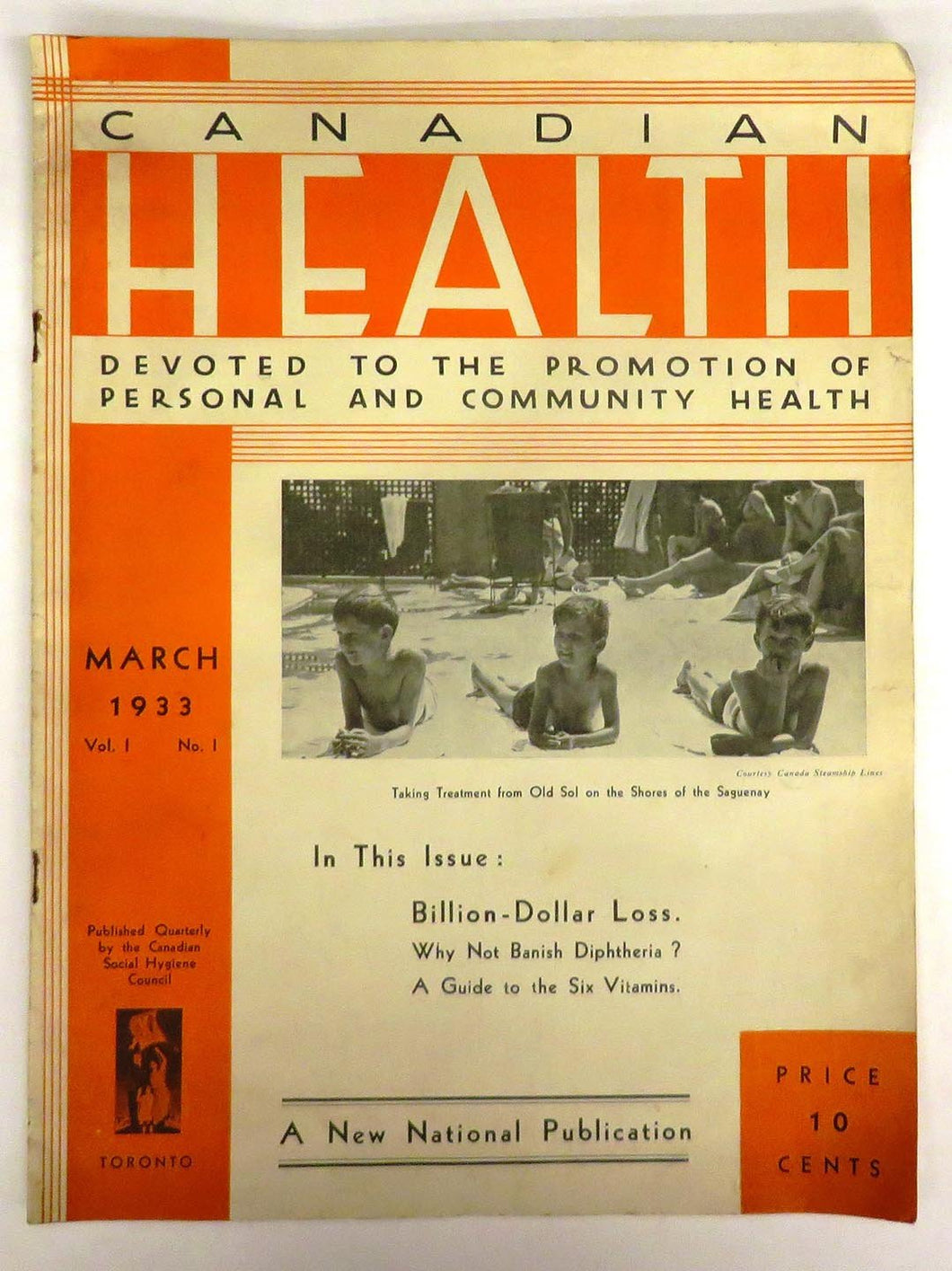 Canadian Health: Devoted to the promotion of personal and community health, March 1933