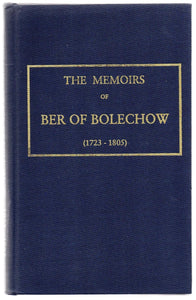 The Memoirs of Ber of Belechow (1723-1805)