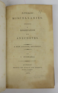Literary Miscellanies: Including a Dissertation on Anecdotes
