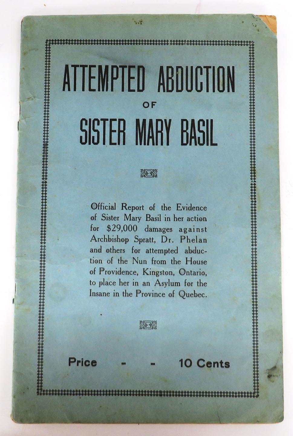 Attempted Abduction of Sister Mary Basil