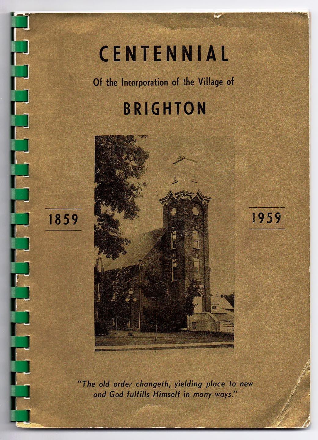 Centennial Of the Incorporation of the Village of Brighton 1859-1959
