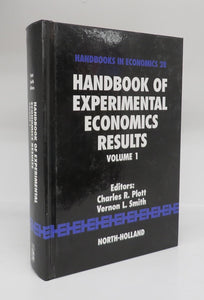 Handbook of Experimental Economics Results Vol. 1