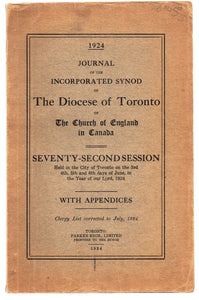 Journal of the Incorporated Synod of The Diocese of Toronto of The Church of England in Canada