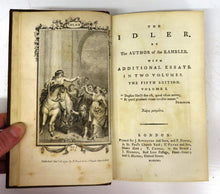 The Idler. By The Author of the Rambler. In Two Volumes. With additional Essays