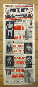 Various British wrestling flyers and promotional materials