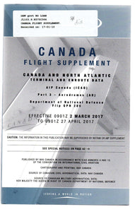 Canada Flight Supplement. Canada and North Atlantic Terminal and Enroute Data. AIP Canada (ICAO). Part 3 - Aerodromes (AD). Department of National Defence Flip GPH 205.
