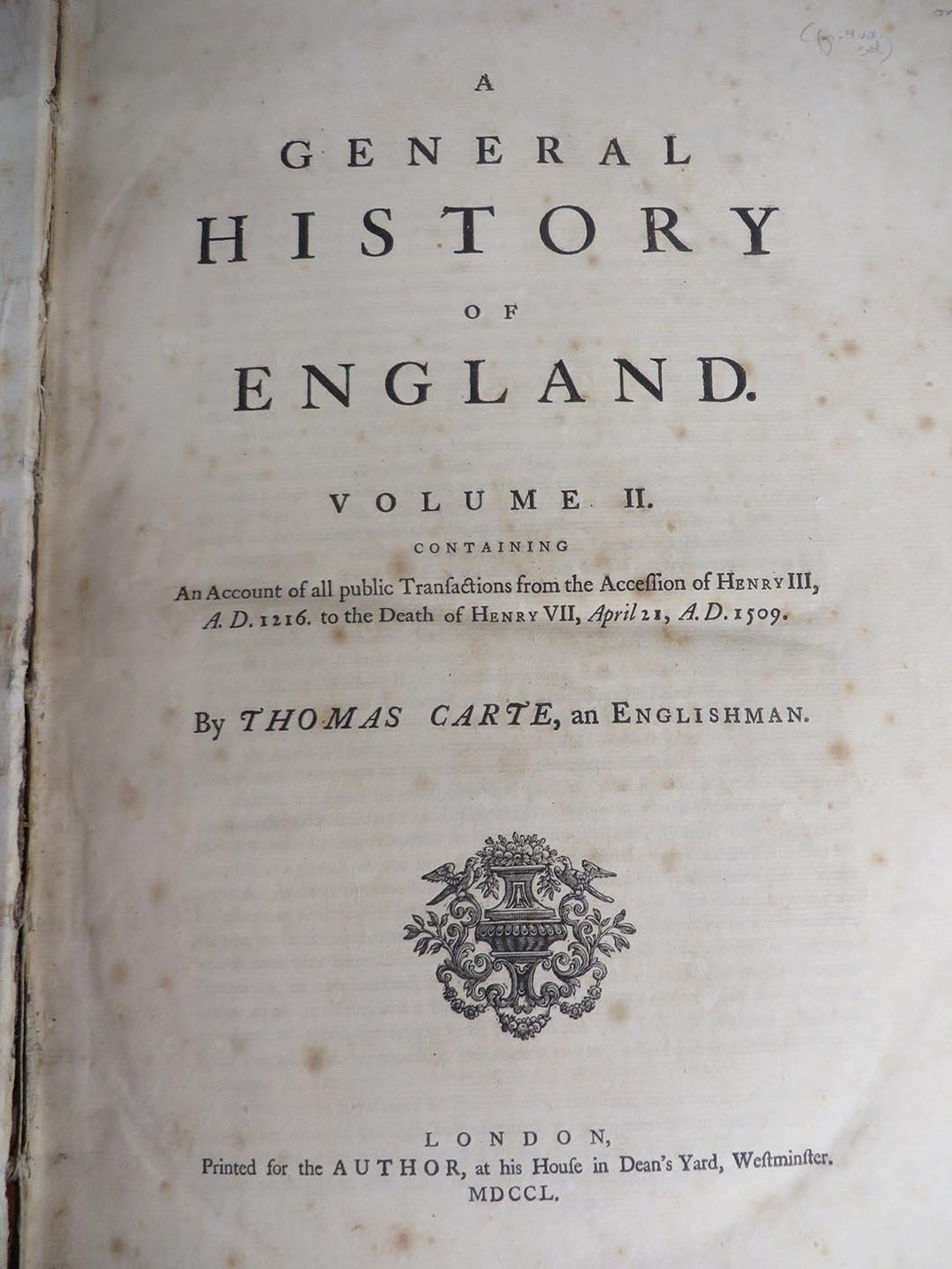 A General History of England Volume II