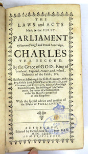 The Laws and Acts Made in the First Parliament of Our most High and Dread Soveraign Charles the Second; An Index or Abridgement of the Acts of Parliament