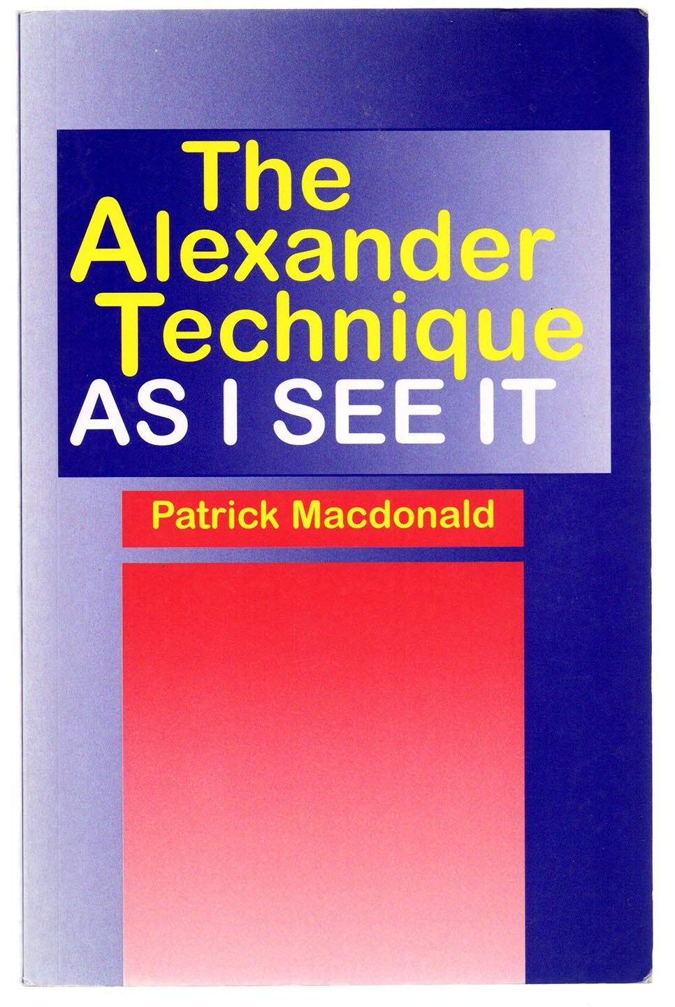 The Alexander Technique As I See It
