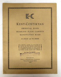 Kent-Costikyan Oriental Rugs Seamless Plain Carpets, Handtufted Rugs catalogue, 1929