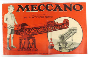 Meccano Instructions for No. 5a Accessory Outfit