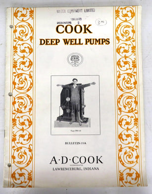 Cook Deep Well Pumps catalogue