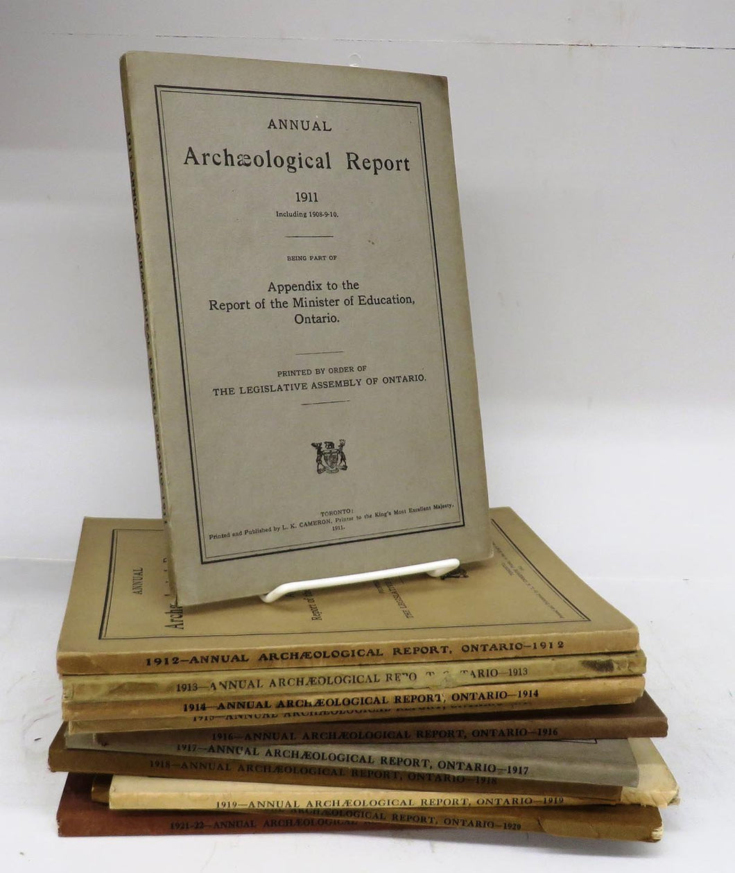 Annual Archaeological Reports 1911-1922