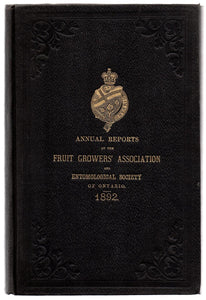 Twenty-fourth Annual Report of the Fruit Growers' Association of Ontario 1892; Twenty-third Annual Report of the Entomological Society of Ontario 1892