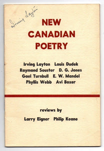 New Canadian Poetry (Artisan 6)