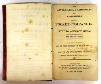 The Gentleman's, Tradesman's, and Farmer's Complete Pocket Companion, and Annual Accompt Book. For the Year 1819.