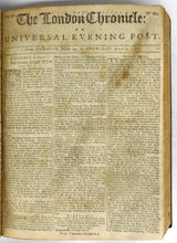 The London Chronicle For The  Year 1762. From June 30, to December 31. Volume XII
