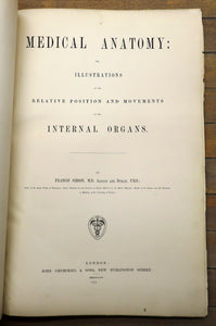 Medical Anatomy: Or, Illustrations of the Relative Position and Movements of the Internal Organs