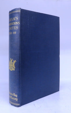 James Isham's Observations On Hudsons Bay, 1743 and Notes and Observations on a Book Entitled A Voyage to Hudsons Bay In The Dobbs Galley, 1749