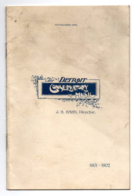 Detroit Conservatory of Music 1901-1902