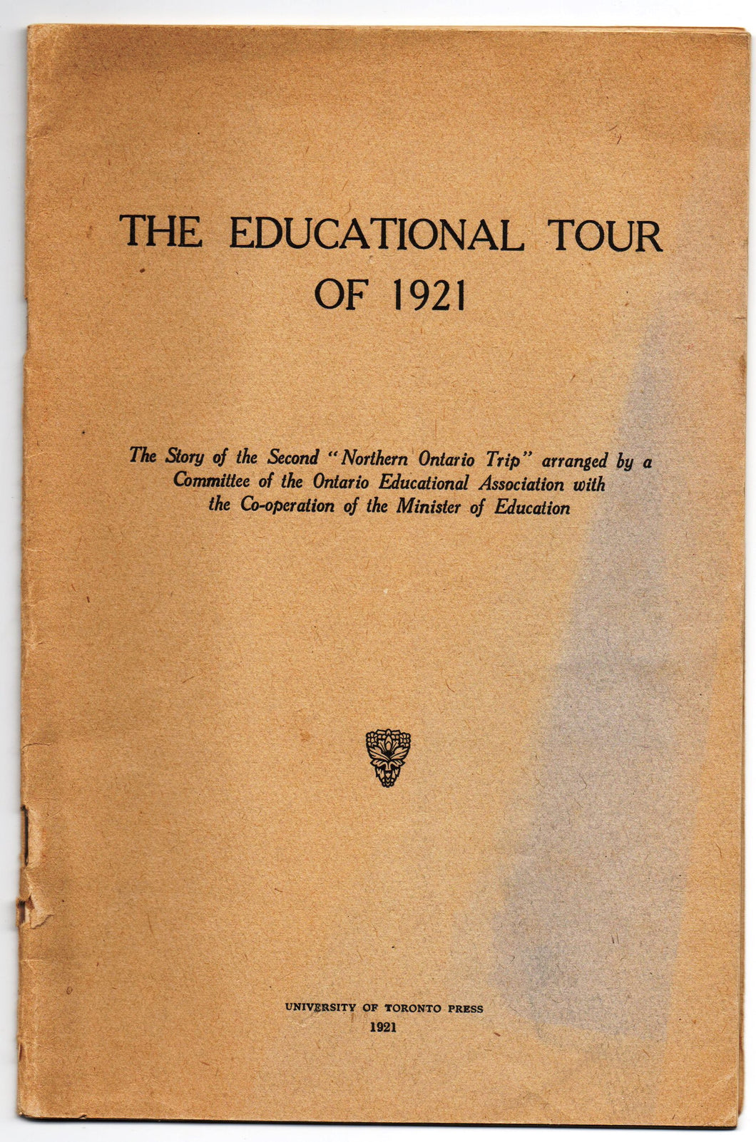 The Educational Tour of 1921