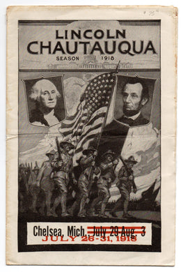 Lincoln Chautauqua program, 1918