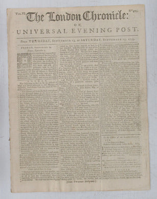 The London Chronicle: Or, Universal Evening Post