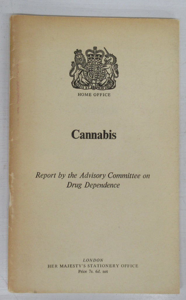 Cannabis: Report by the Advisory Committee on Drug Dependence