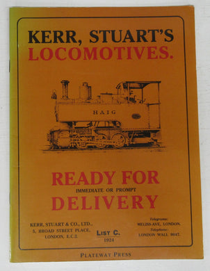 Kerr, Stuart's Locomotives catalogue