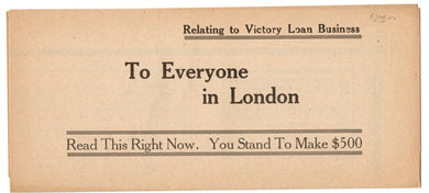 Victory Loan advertisement