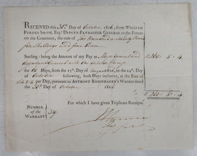 British army pay receipt
