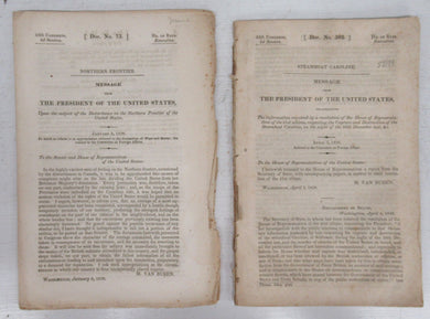 Two pamphlets about the Steamboat Caroline affair