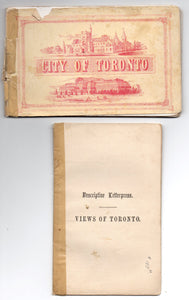 Views of Toronto viewbook with Descriptive Letterpress