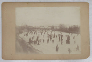 Ice skating on the Thames River, London, Ontario