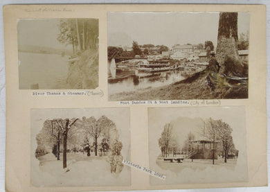 Four photos of London, Ontario in the 1890s