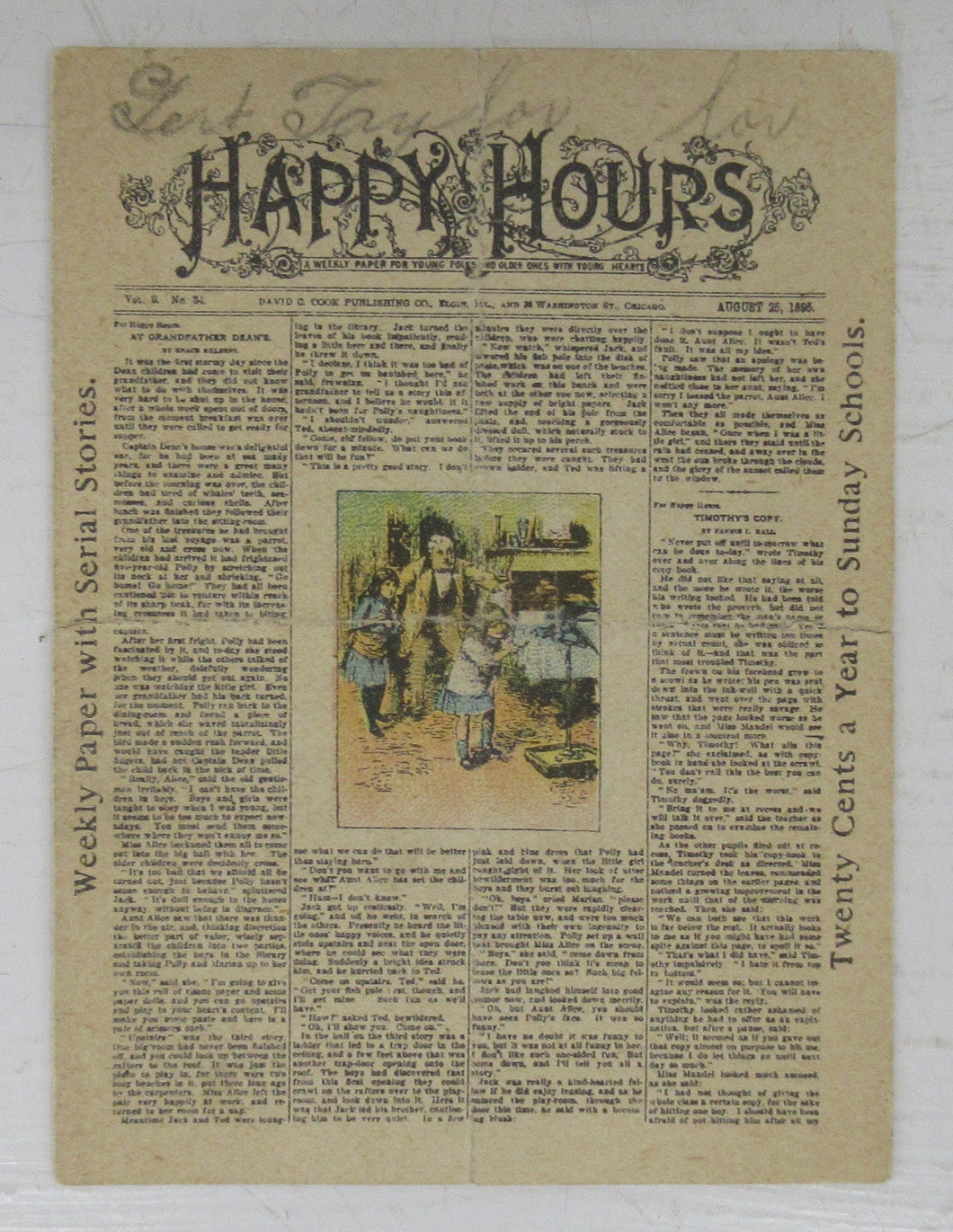 Happy Hours miniature weekly paper