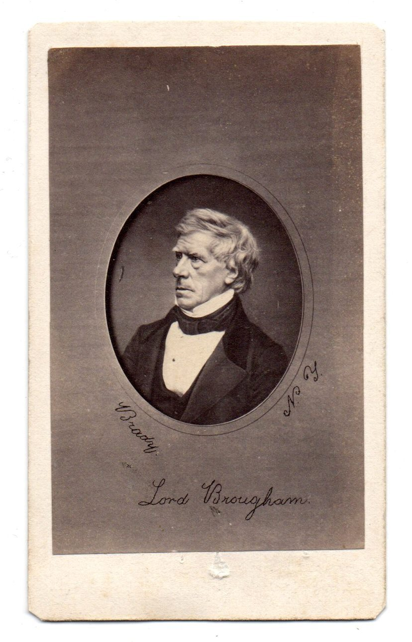 Photograph of Hon. Lord Henry Brougham