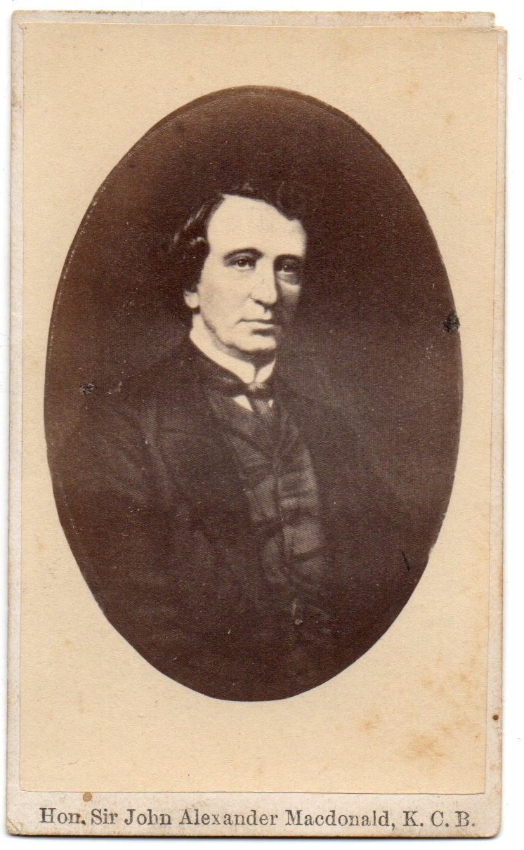 Carte de visite of Sir John A. Macdonald