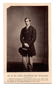 Carte de visite photo of HRH The Prince of Wales