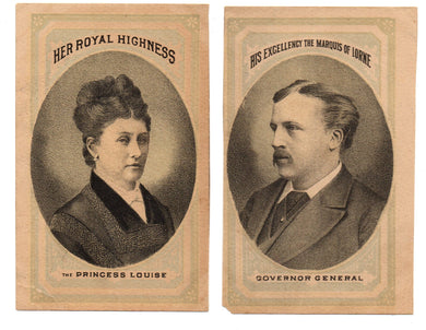 Portraits of Princess Louise and the Marquis of Lorne