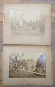 Photo of Sunderland Hall, Selkirk, Scotland, accompanied by photo of croquet players
