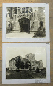 Two photos of Evansville College, Indiana