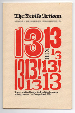 The Devil's Artisan: A Journal of the Printing Arts, Number Thirteen