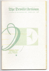 The Devil's Artisan: A Journal of the Printing Arts, Number Twenty-Two