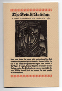 The Devil's Artisan: A Journal of the Printing Arts, Number Twenty-Five