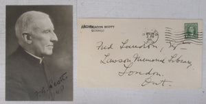 Signed photograph of Frederick George Scott