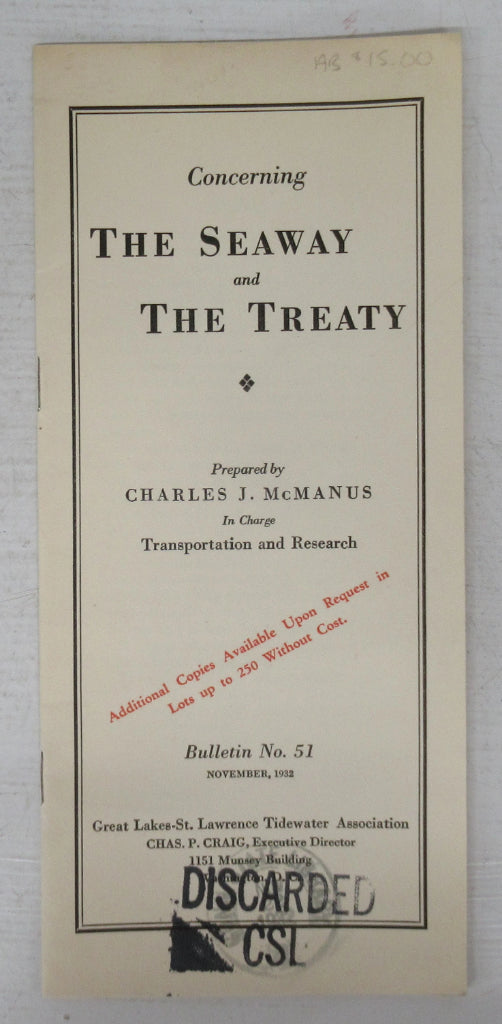 Concerning the Seaway and the Treaty